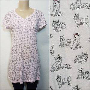 CHARTER CLUB Intimates Pink PJ Long Dog Shirt XS
